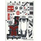 LEGO Sticker Sheet for Set 76051 (26198 / 26199)