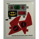 LEGO Sticker Sheet for Set 76055 (27072 / 27073)