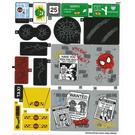LEGO Sticker Sheet for Set 76057 (27075 / 27076)