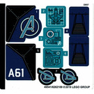 LEGO Sticker Sheet for Set 76126 (49541)