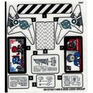 LEGO Sticker Sheet for Set 76166 (69157)