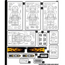 LEGO Sticker Sheet for Set 76167 (69524)