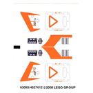 LEGO Sticker Sheet for Set 7646 (63093)