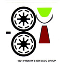 LEGO Sticker Sheet for Set 7674 (63214)