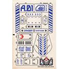 LEGO Sticker Sheet for Set 7700 (54907)