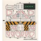 LEGO Sticker Sheet for Set 7702 (55023)