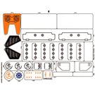 LEGO Sticker Sheet for Set 7706 (55762)
