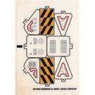 LEGO Sticker Sheet for Set 7711 (55428)