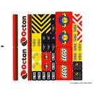 LEGO Sticker Sheet for Set 7939 (91144)