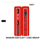 LEGO Sticker Sheet for Set 7976 (94344)