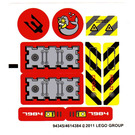 LEGO Sticker Sheet for Set 7984 (94345)