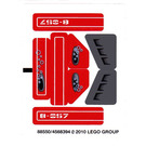 LEGO Sticker Sheet for Set 8057 (88550)