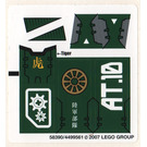 LEGO Sticker Sheet for Set 8100 (58390)