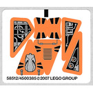 LEGO Sticker Sheet for Set 8101 (58512)