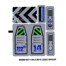 LEGO Sticker Sheet for Set 8189 (89289)