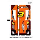 LEGO Sticker Sheet for Set 8304 (94627)