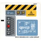 LEGO Sticker Sheet for Set 8424 (96191)