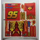 LEGO Sticker Sheet for Set 8484 (96195)