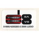 LEGO Sticker Sheet for Set 8642 (51895)
