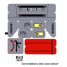 LEGO Sticker Sheet for Set 8654 (53316)