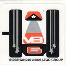 LEGO Sticker Sheet for Set 8661 (54392)