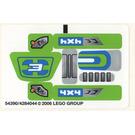 LEGO Sticker Sheet for Set 8663 (54390)