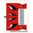 LEGO Sticker Sheet for Set 8664 (54393)
