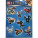 LEGO Sticker Sheet - Legends of Chima (10 Stickers) (25068211)