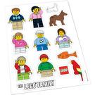 LEGO Sticker Sheet - Lego Family Window Decals (850794)