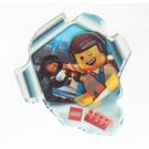 LEGO Sticker Sheet - The Lego Movie Emmet and Wyldstyle (Lenticular) (5002044)