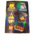 LEGO Sticker Sheet with Emmet / Vitruvius / MetalBeard / Wyldstyle / The LEGO Movie logo