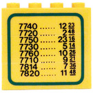 LEGO Stickered Assembly 4 x 1 x 3 with Train Schedule on Both Sides