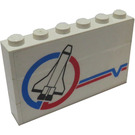 LEGO Stickered Assembly with Space Shuttle Launch Command Logo Pattern