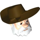 LEGO Stinky Pete Head with Dark Brown Hat (87772)