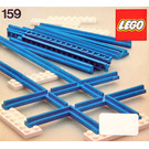 LEGO Straight Track with Crossing Set 159