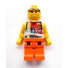LEGO Street Basketball Player, Tan Torso, Orange Legs Minifigure