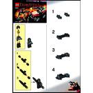 LEGO Street Sprinter vs. Mutant Lizard Set 7473 Instructions
