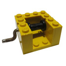 LEGO String Reel Winch 4 x 4 x 2 with Black Drum and Metal Handle