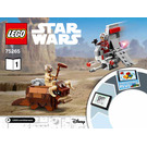 LEGO T-16 Skyhopper vs Bantha Microfighters Set 75265 Instructions