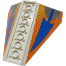 LEGO Tail 10 x 10 x 4 Dual with Blue and Orange Lines