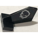 LEGO Tail 2 x 3 x 2 Fin with Space Police 3 Alien Skull Pattern on Both Sides Sticker (44661)