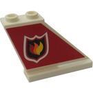 LEGO Tail 4 x 1 x 3 with Fire Logo Right Sticker (2340)