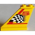 LEGO Tail 4 x 1 x 3 with Sticker from Set 8225 (2340)