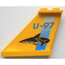LEGO Tail 4 x 1 x 3 with U-97 and Shark Stickers (2340)