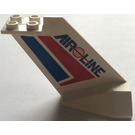 "LEGO Tail Plane with Red and Blue Stripes, Globe and ""AIR LINE"" (4867)"