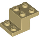 LEGO Tan Bracket 2 x 3 with Plate and Step (18671)