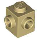 LEGO Tan Brick 1 x 1 with Two Studs on Adjacent Sides (26604)