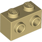 LEGO Tan Brick 1 x 2 with Studs on One Side (11211)