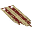 LEGO Tan Cloth Flag with Red Stripes Pattern (25440)