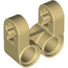 LEGO Tan Cross Block 2 x 2 Split (Axle / Twin Pin) (41678)